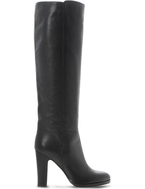 DUNE BLACK Rena knee high stacked-heel boots