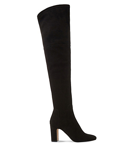 DUNE BLACK Sable suede over-the-knee boots (Black-suede