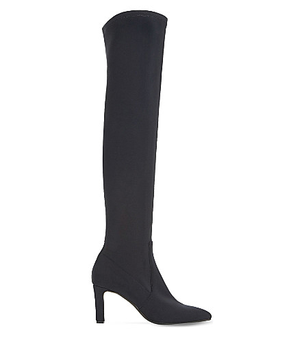 DUNE BLACK Santacruz suede over-the-knee boots (Black-suede