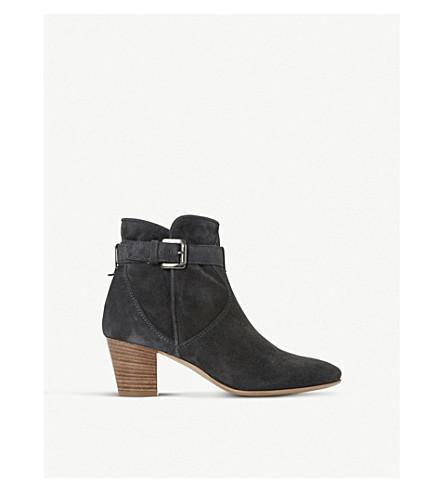 DUNE BLACK 朴茨茅斯绒面革踝靴 (灰色麂皮绒