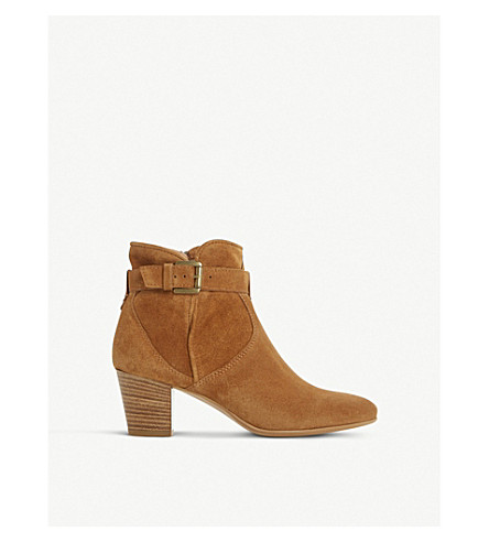 DUNE BLACK Portsmouth suede ankle boots (Tan-suede