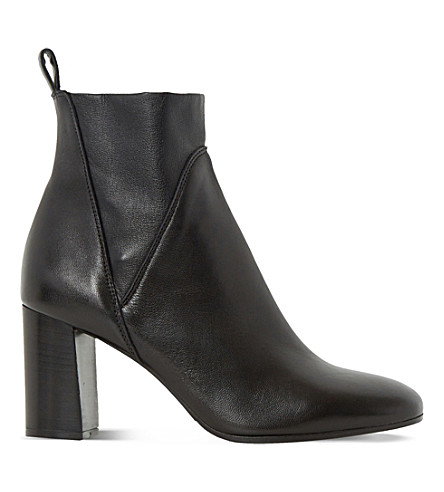 DUNE BLACK Powa stretch-leather ankle boots (Black-leather
