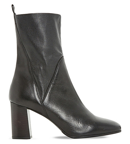 DUNE BLACK Pattison stretch leather ankle boots (Black-leather
