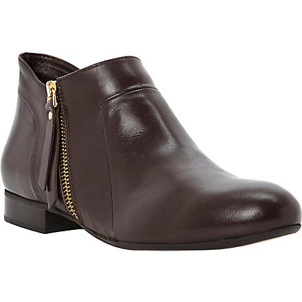 DUNE BLACK Pringle leather ankle boots (Brown-leather