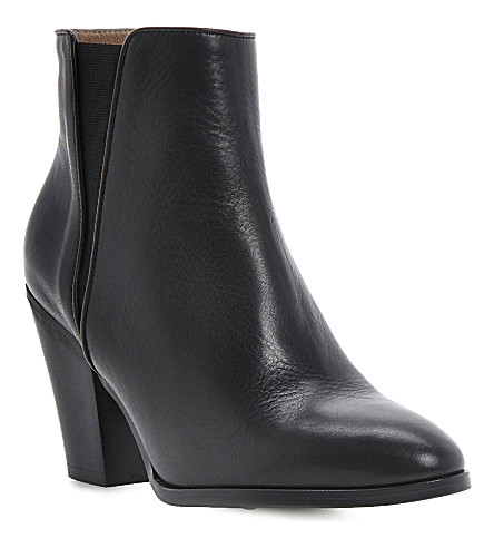DUNE BLACK Silo leather ankle boots (Black-leather