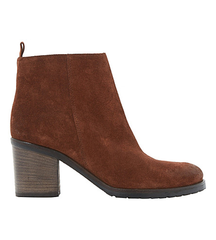 DUNE BLACK Phelix suede ankle boots (Rust-suede