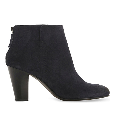 DUNE BLACK Pharah distressed suede ankle boots (Navy-suede