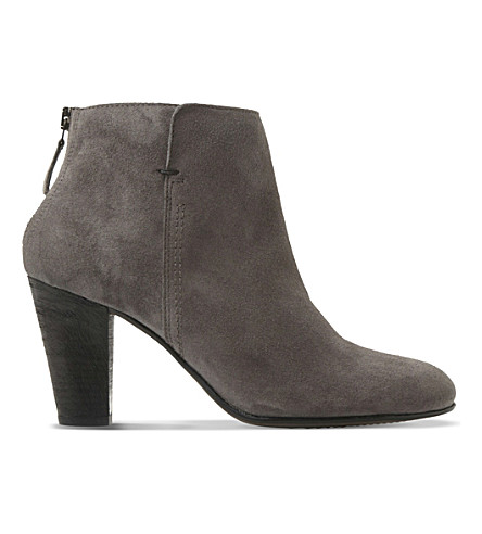 DUNE BLACK Pharah suede ankle boots (Grey-suede