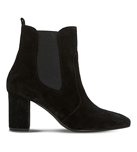 DUNE BLACK 游行绒面革切尔西靴子 (黑麂皮绒
