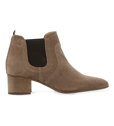 DUNE BLACK Perin classic suede ankle boots (Taupe-suede