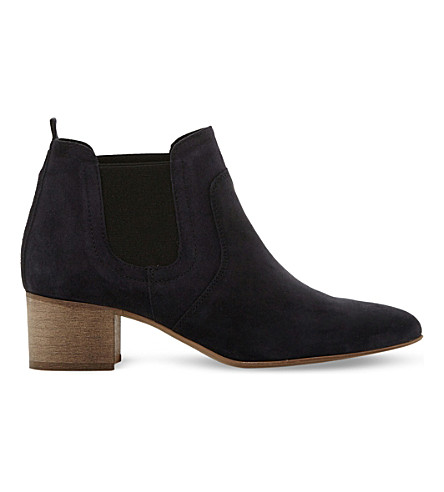 DUNE BLACK Perin classic suede ankle boots (Navy-suede