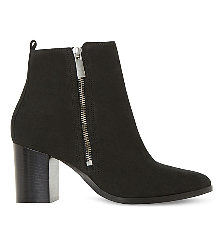 DUNE BLACK Passage nubuck leather ankle boots (Black-nubuck
