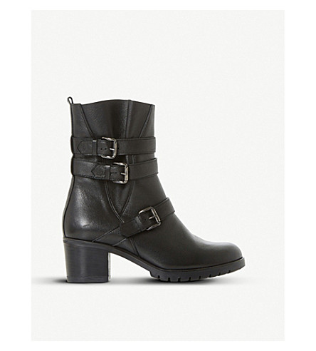 DUNE BLACK Pennfolde leather ankle boots (Black-leather