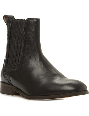 DUNE BLACK Clean Chelsea leather boots