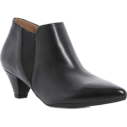 DUNE BLACK Saxe leather shoe boots (Black-leather