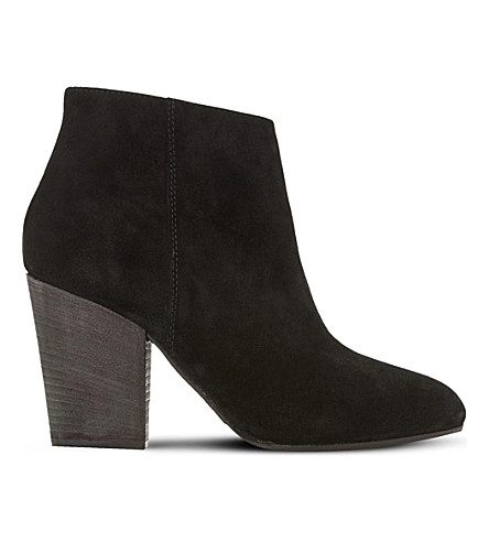 DUNE BLACK Patina suede ankle boots (Black-suede