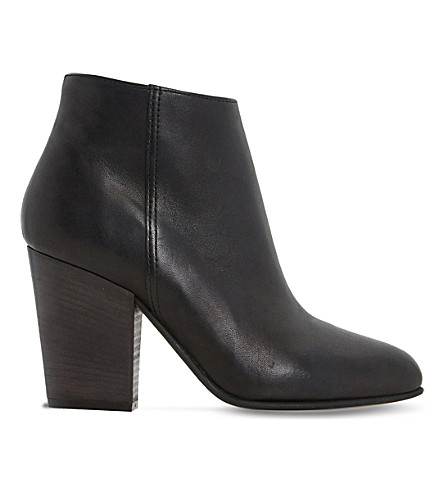 DUNE BLACK Patina leather ankle boots (Black-leather
