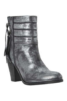 DUNE BLACK Shima metallic leather ankle boots