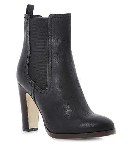 DUNE BLACK Robyn heeled Chelsea boot (Black-leather
