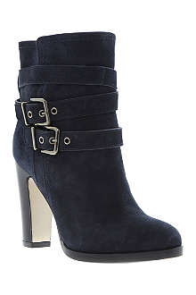 DUNE BLACK Panto double buckle boots