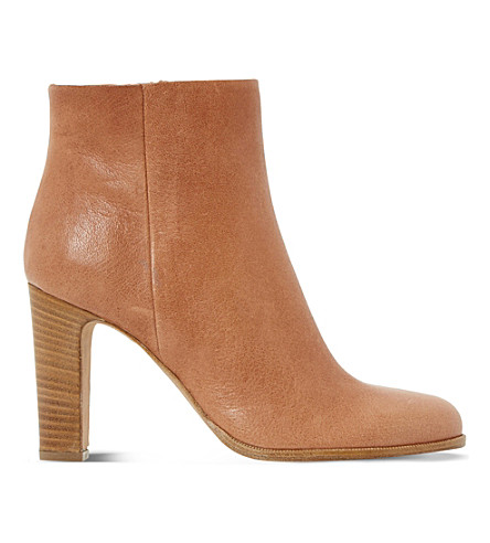 DUNE BLACK Oliva leather ankle boots (Tan-leather