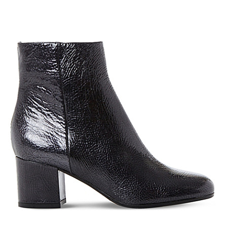 DUNE BLACK Orsen patent leather ankle boots (Blue-patent