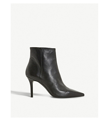 DUNE BLACK O'Connor pointed-toe leather ankle boots (Black-leather