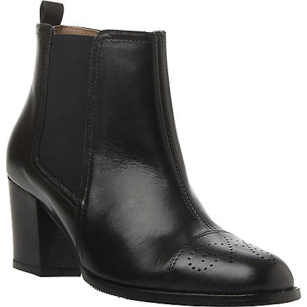 DUNE BLACK Sam leather Chelsea boots (Black-leather