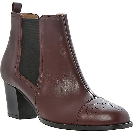 DUNE BLACK Sam leather Chelsea boots (Burgundy-leather