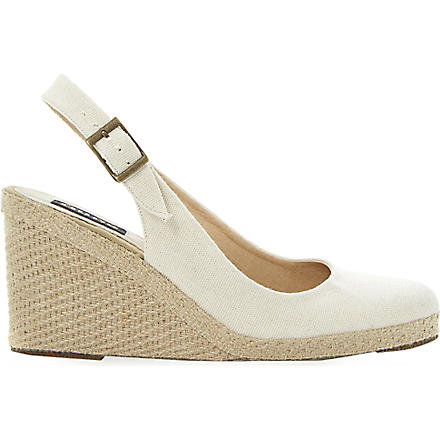 DUNE BLACK Imperia slingback espadrilles (Natural-canvas