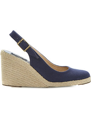 DUNE BLACK Imperia D wedge espadrilles