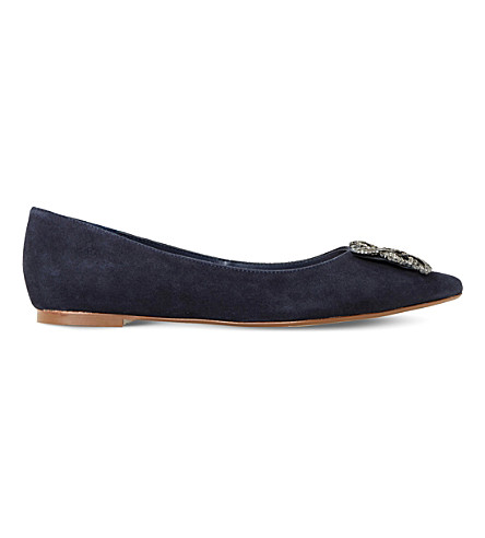 DUNE Flat brooch trim cour (Navy-suede