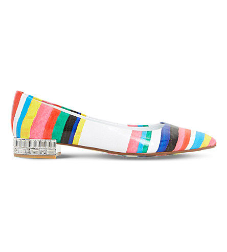 DUNE Brasillia patent flats (Multi-printed+synthetic