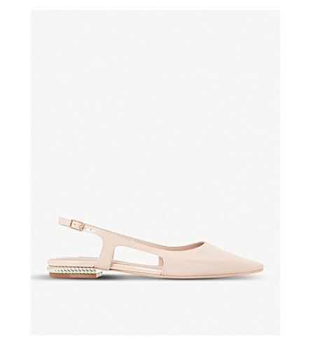 DUNE Cartelle slingback patent courts (Blush-patent+synthetic