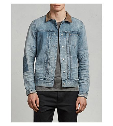 ALLSAINTS Ibanez patch-detail denim jacket (Indigo