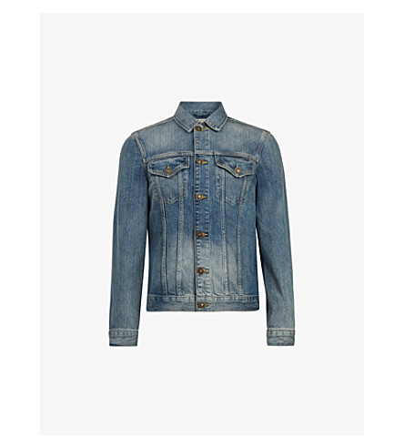 ALLSAINTS Inverness distressed denim jacket (Indigo