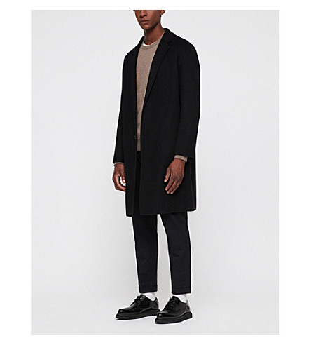 ALLSAINTS Foley wool-blend coat (Black