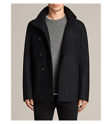 ALLSAINTS Melrose wool-blend peacoat (Black