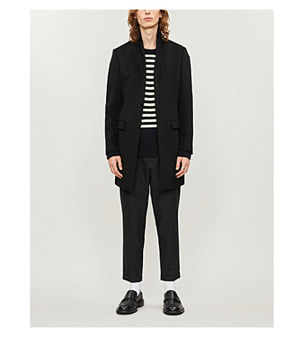 ALLSAINTS Bodell notch-lapel wool coat (Black
