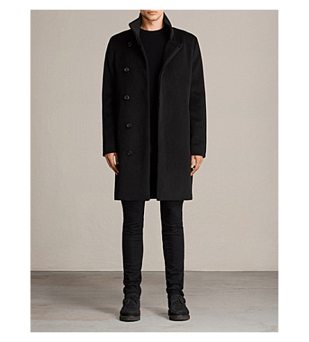 ALLSAINTS Eskra wool-blend coat (Black
