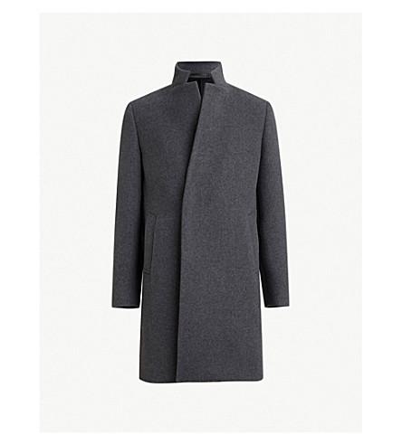 ALLSAINTS Dowth wool-blend coat (Midgrey