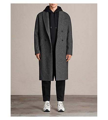 ALLSAINTS 德里羊毛混纺大衣 (灰色