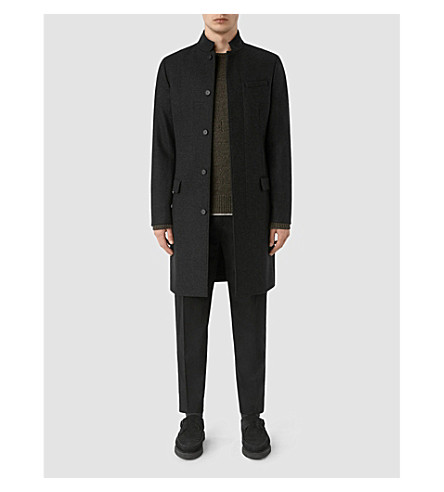 ALLSAINTS Moylan wool coat (Charcoal+grey