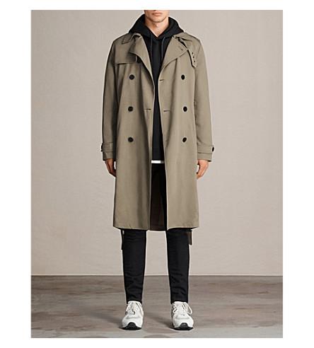 ALLSAINTS Siren Mac twill trench coat (Sage+green