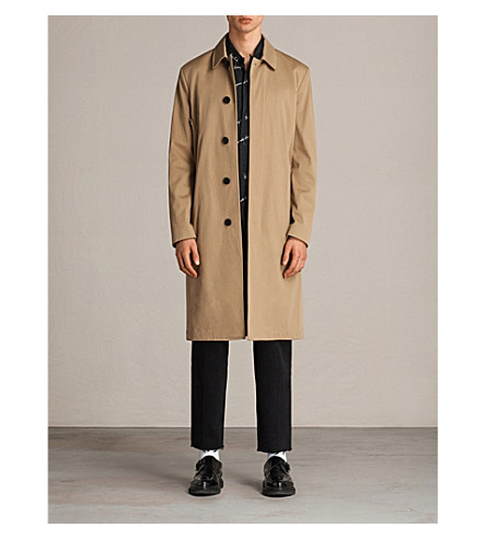 ALLSAINTS Nothing Really Happens Alameda stretch-cotton coat (Camel