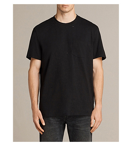 ALLSAINTS Torr cotton-jersey T-shirt (Jet+black