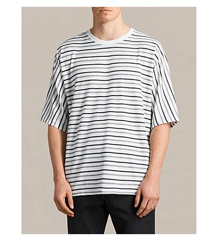 ALLSAINTS Striped cotton-jersey T-shirt (Chk+white/ink