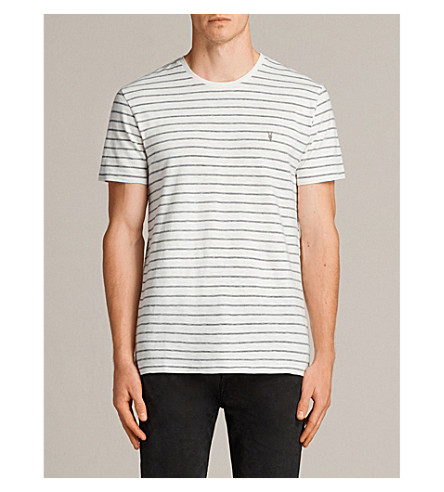 ALLSAINTS Paver cotton-blend T-shirt (Chalk+white