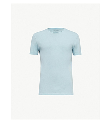 ALLSAINTS Figure cotton-jersey T-shirt (Arbour+blue