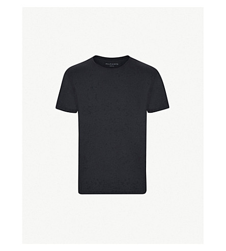 ALLSAINTS Figure cotton-jersey T-shirt (Ink+navy